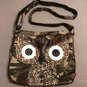 Unionbay Owl Camo Crossbody Bag